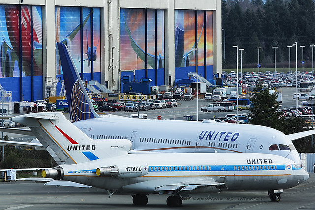United Boeing 727-22 and Boeing 787-9 Photoshooting