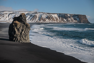 Kirkjufjara beach Seastack