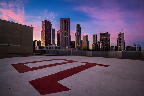 skyline sunrise cityscape urbansunrise dtla downtownlosangeles downtownsunrise ©shabdrophoto
