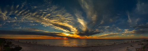 sunset panorama beach water clouds outdoor australia adelaide southaustralia orangeandblue semaphoresunset