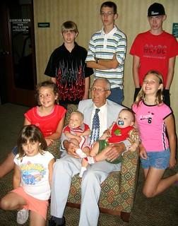 Great Grandpa Omundson & His Great Grandchildren