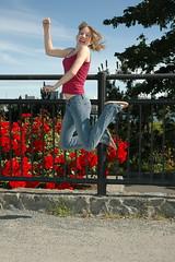 Becky Jumping