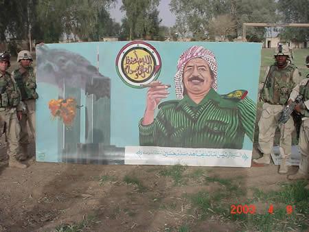 Saddam's 9/11 billboard