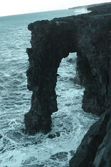 Arch in the volcanic rock