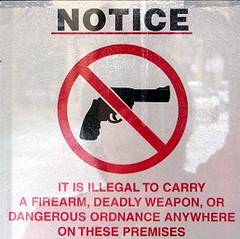 firearm sign