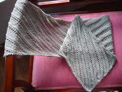 Diagonal Rib Lace Scarf