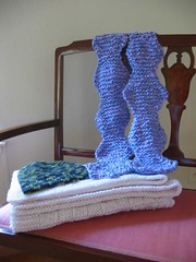 Wavy Boxes Baby Blanket and Wavy Gravy Scarf