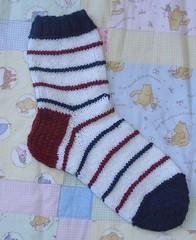 sinipunainen sukka
