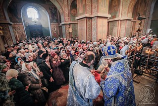 Литургия в Софийском соборе 740
