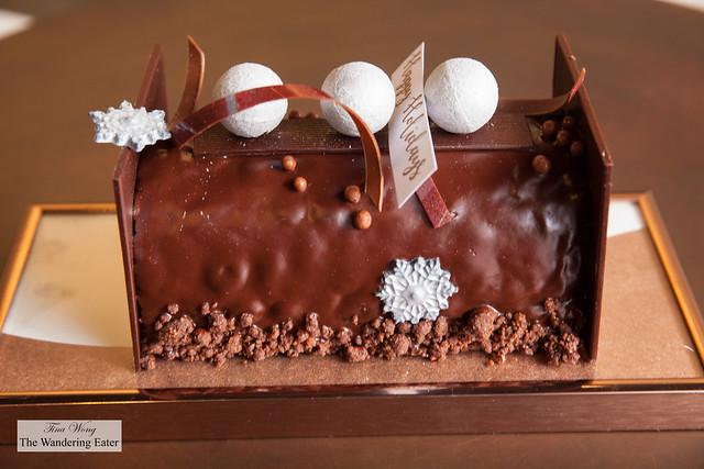 Chocolate and Caramel Bûche de Noël