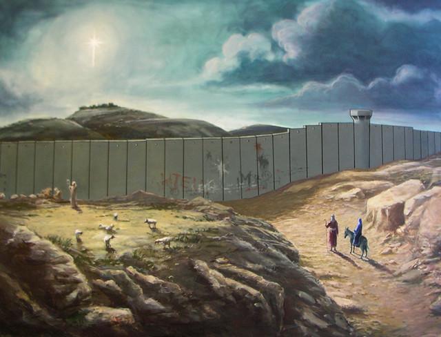 Israeli Apartheid  Wall! - Bethlehem/Palestine