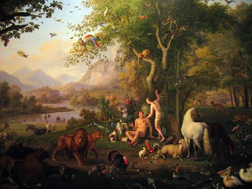 Adam and Eve in the Garden of Eden, by Wenzel Peter, Pinacoteca Vaticana | by bengal*foam