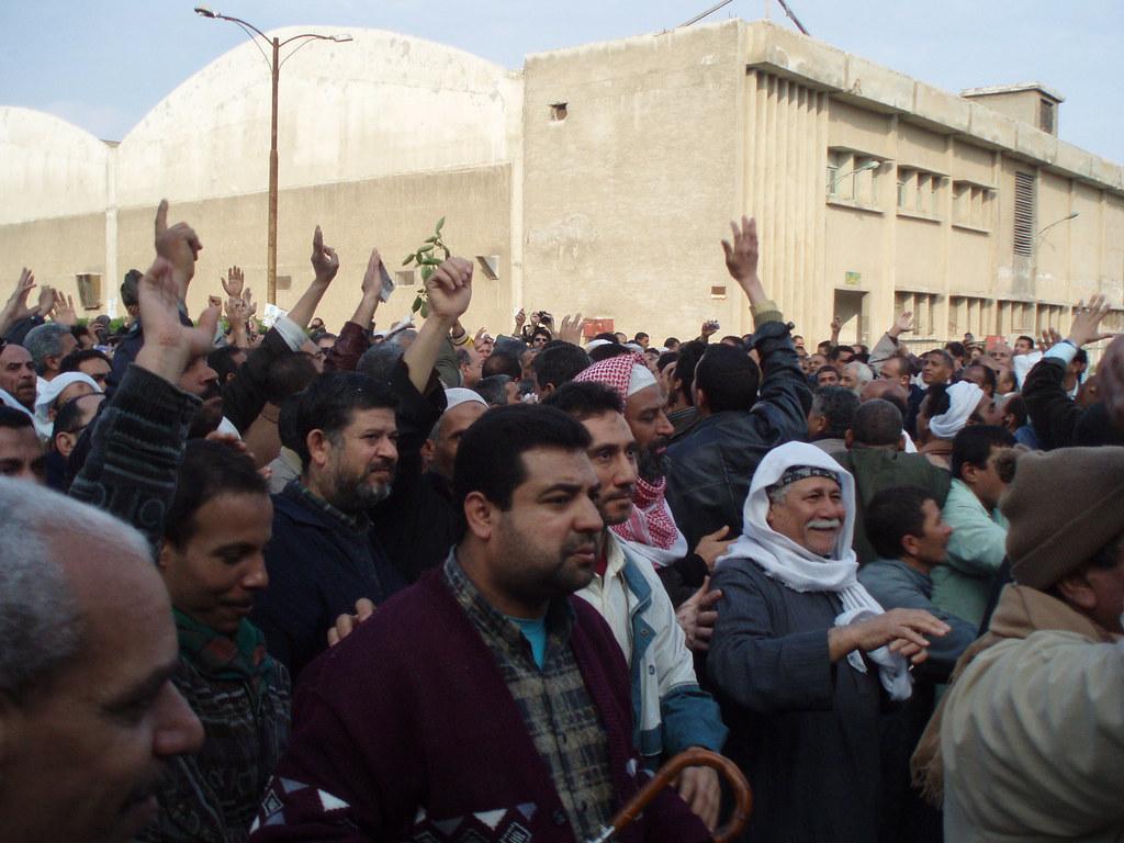 Kafr el-Dawwar Textile Strikers celebrate their victory