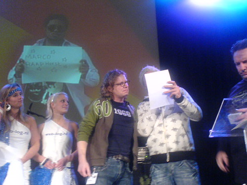 Marco wint de Dutch Bloggies | by Irene van Nispen-Kress