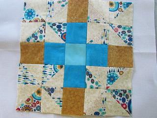 First block of quilt along.