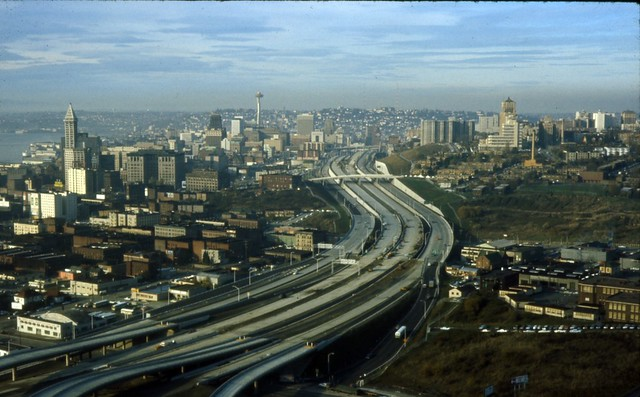 Downtown and I-5, 1966