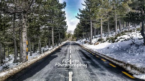 road street mountain snow landscape estrela perspective paisagem estrada neve serra