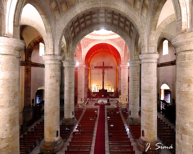 Interior de la Catedral de Mérida, Yucatán,  México
