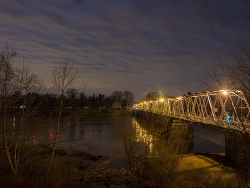 county new bridge night washington long exposure crossing pennsylvania nj historic mercer pa upper jersey bucks makefield