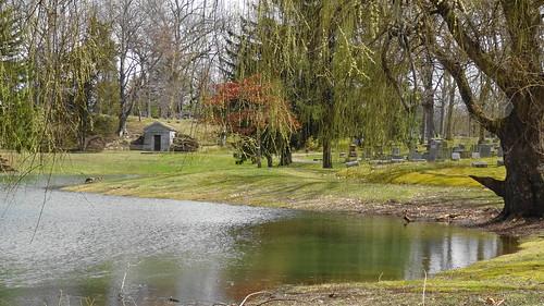 lake cemetery landscape spring michigan sony april 2016 shiawasseecounty oakhillcemetery owosso sonyhx9v