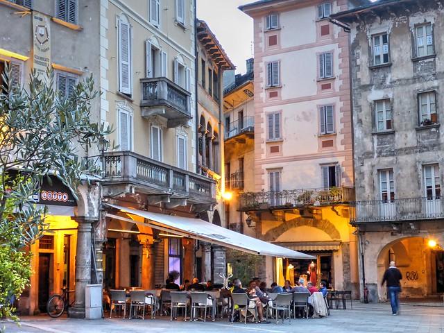 Blue Hour on Piazza del Mercato, Domodossola 03