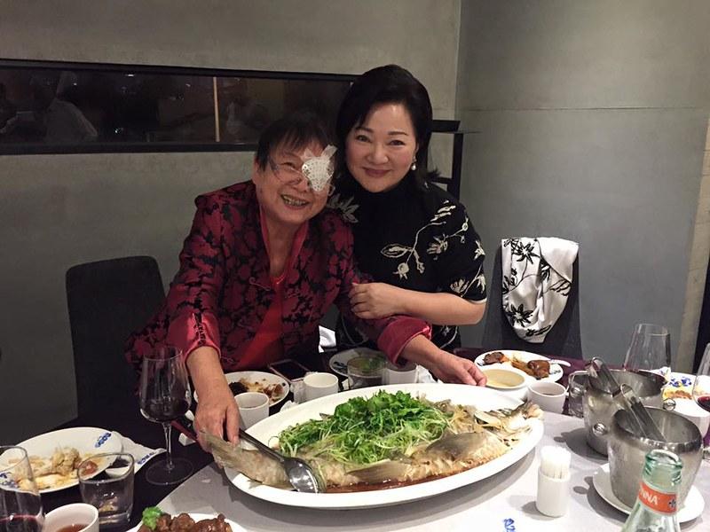 白冰冰在与玥樓粵菜點心餐廳1