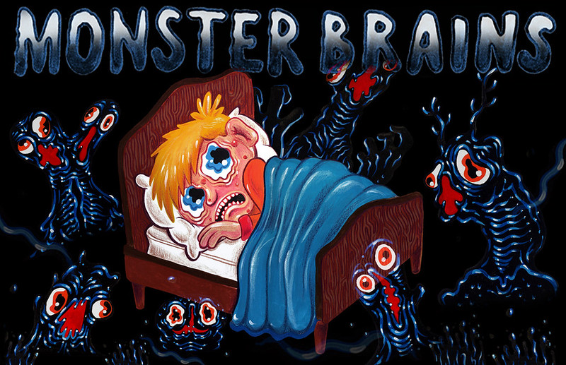 MONSTER BRAINS LOGO - Dieter VDO