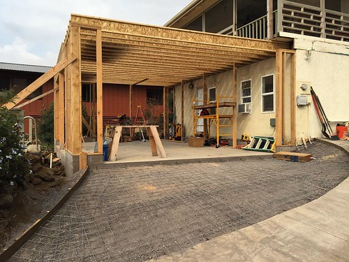 #garage #addition #framing #carpentry #driveway #form | by bycpt