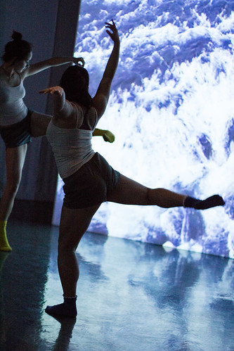 """USC Kaufman BFA students collaborate with Hubbard Street 2 in """"Second Sight"""" a site-specific performance at the USC Fisher Museum featuring """"20/20 Accelerando"""" an installation by artist Lita Albuquerque."""