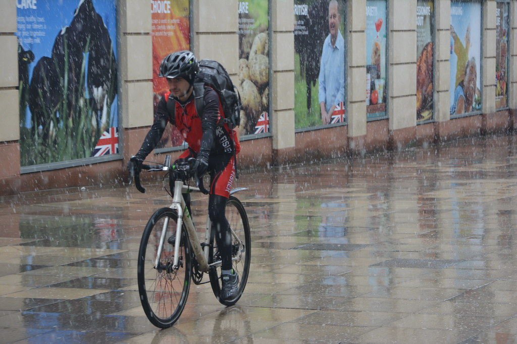 All Weather Cyclist, Brown Street, Manchester, England    Flickr