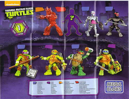 MEGA BLOKS ::  Nickelodeon TEENAGE MUTANT NINJA TURTLES ::  Micro Action Figures Series I, instructions v.1 A (( 2016)) by tOkKa