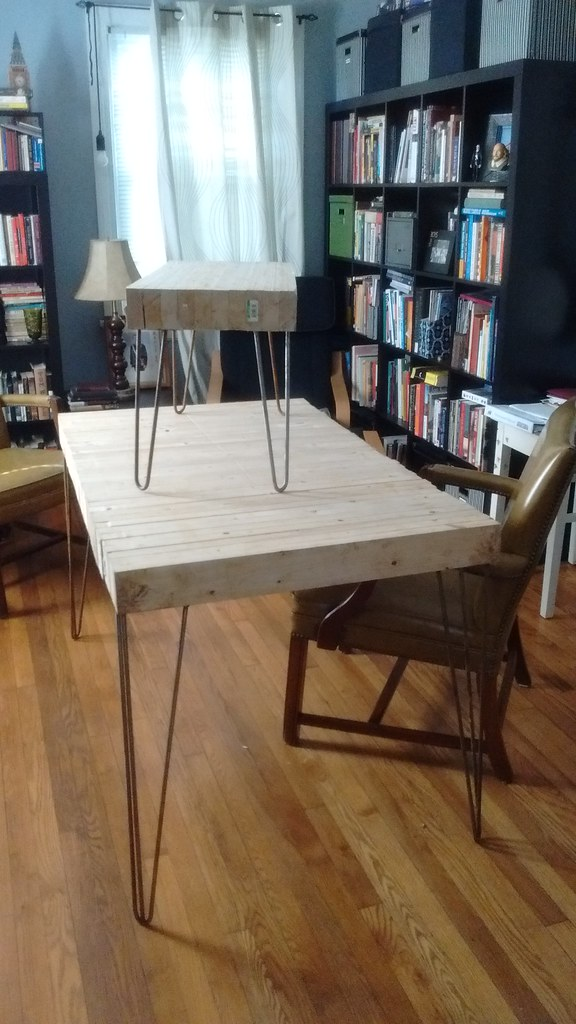 Astonishing 2X4 Block Table W Hairpin Legs Made At Hackrva Hackrva Download Free Architecture Designs Rallybritishbridgeorg