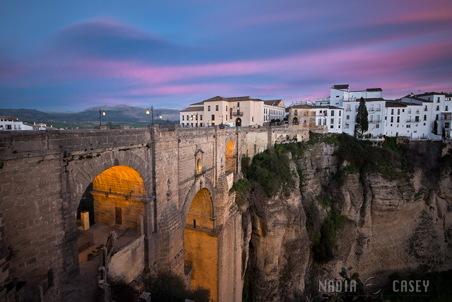 Pink Clouds - Ronda, Spain