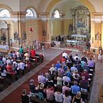 Während der Ansprache von Pfarrer Dumea beim ökumenischen Gottesdienst zur 250. Jahrfeier seit der Gründung der Gemeinde im August 2015