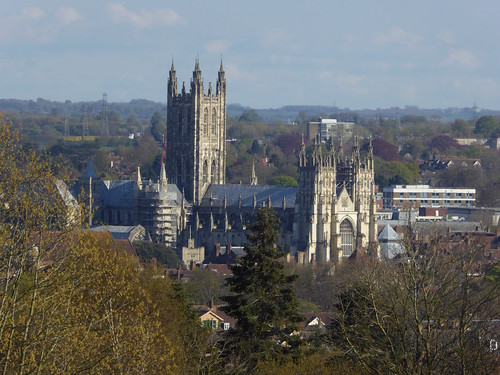 First view of Canterbury Cathedral Chilham to Canterbury walk