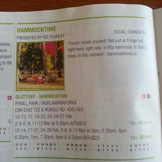 hammocktime, page 84, Adelaide Fringe Guide | by feesable
