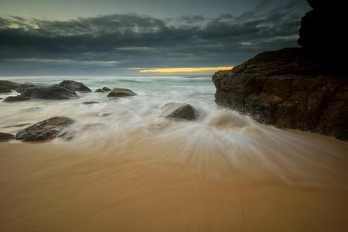 ocean seascape rocks australia newsouthwales aus portmacquarie midnorthcoast watermovement nikon1635mmf4 nikond750