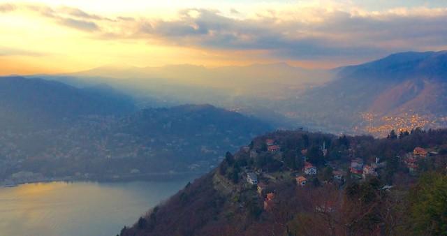 Lake Como Lombardy Italy 13th February 2016