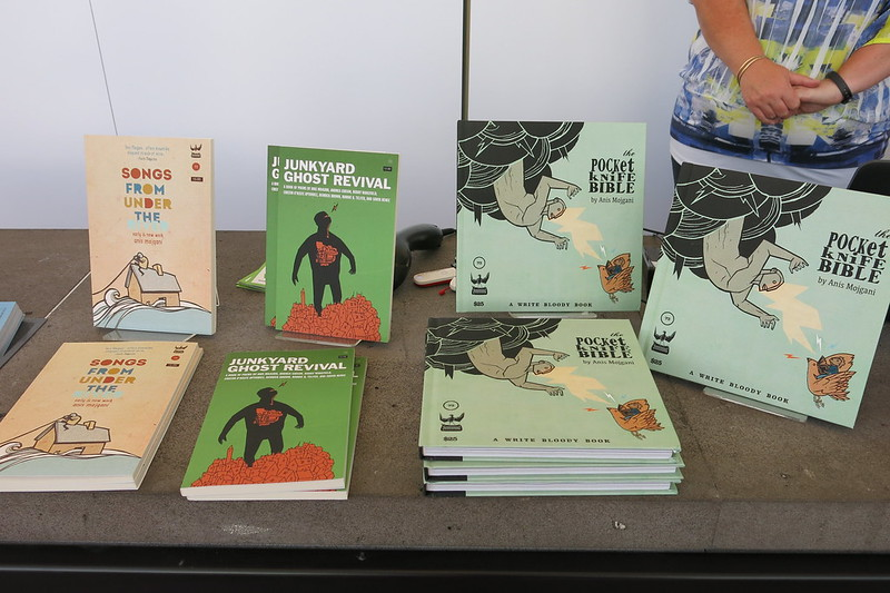 UBS book stall of Anis Mojgani books
