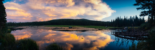 sunset lake nature us colorado unitedstates estespark alpinelake rockymountainnationalpark bearlake