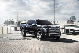 "Ford F150 Platinum on 26"" Chrome CW6 
