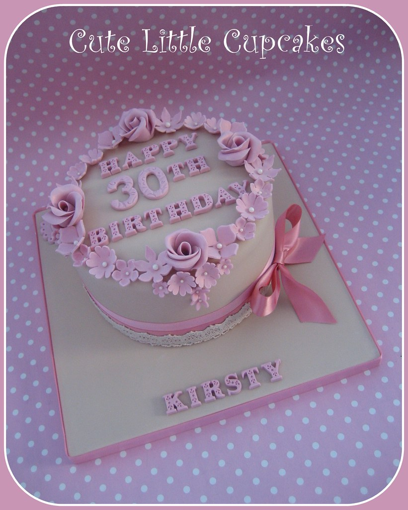 Cool Shabby Chic 30Th Birthday Cake A Photo On Flickriver Birthday Cards Printable Inklcafe Filternl