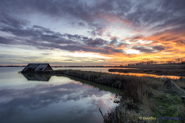Sunrise in Comacchio Lagoon