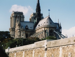 Notre-Dame Cathedral from the Seine, Paris, Oct 1998