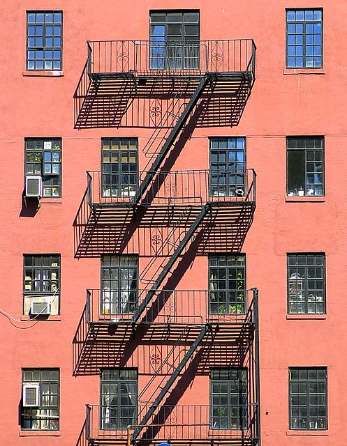 Fire escape, West 10th Street, Greenwich Village, New York City