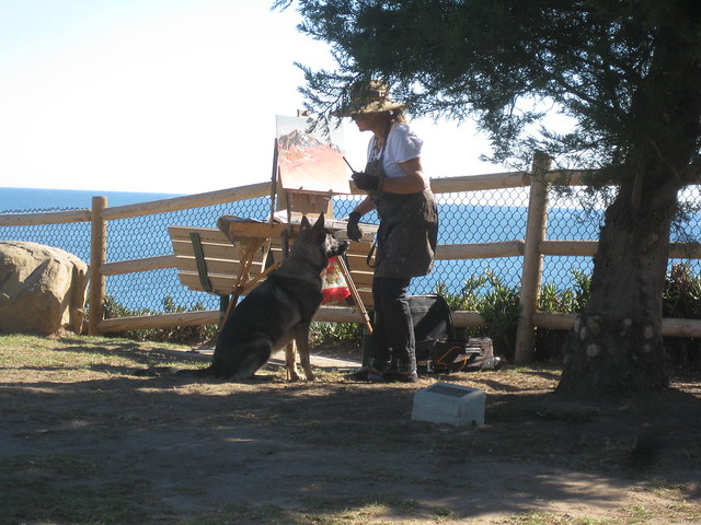 IMG_3310 Lookout park Summerland dog and owner