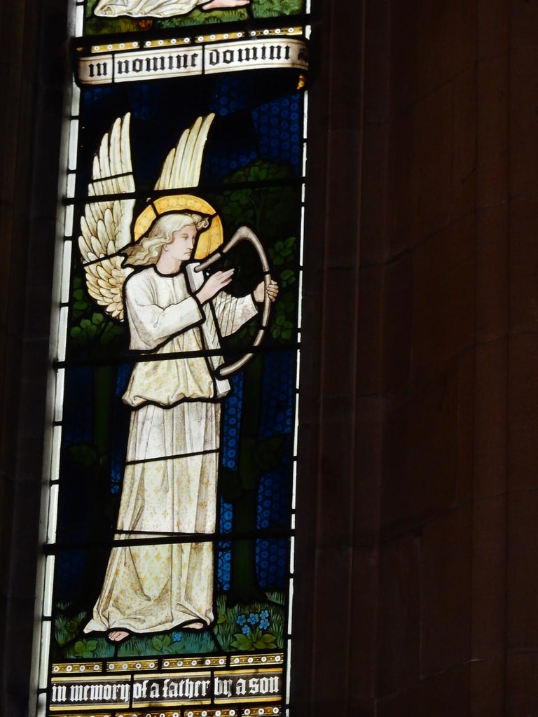 Pre-Raphaelite Angel Ashurst to Eridge St Mary's church, Speldhurst