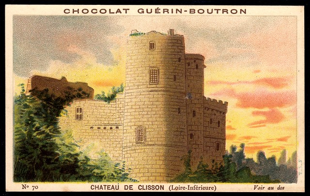 French Tradecard - Chateau de Clisson