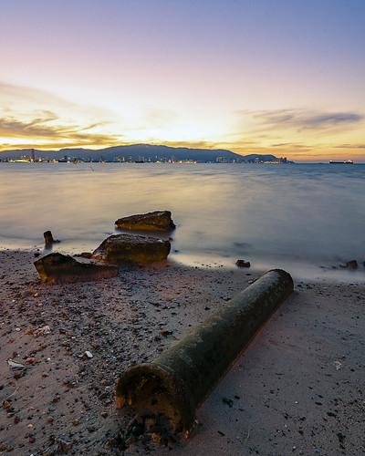 sunset georgetown malaysia penang 日落 北海 butterworth penangisland 夕阳 pulaupinang 马来西亚 my 槟城 pantaibersih tokina1116mmf28 tokina1116mm 乔治市 nikond7000 ahweilungwei