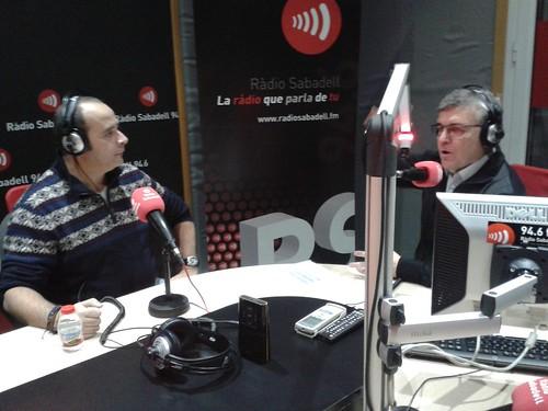 Pere Cardona y Manolo Garrido en Tarda de Radio, de Radio Sabadell